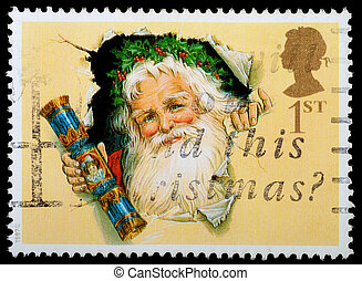 Christmas Postage Stamp - UNITED KINGDOM - CIRCA 1997: A ...