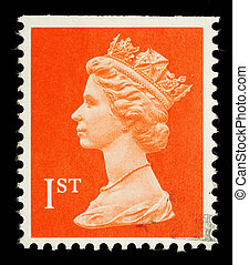 Postage Stamp - UNITED KINGDOM - CIRCA 1998: An English Used...