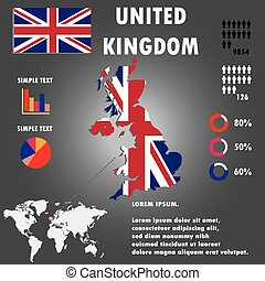 United Kingdom Country Infographics Template Vector. -...