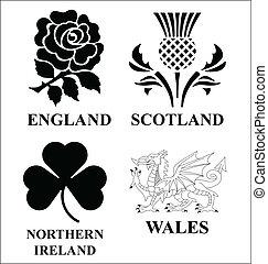 United Kingdom emblems - United Kingdom monochrome emblem...