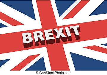 United Kingdom exit from europe relative image. Brexit named politic process. Referendum theme