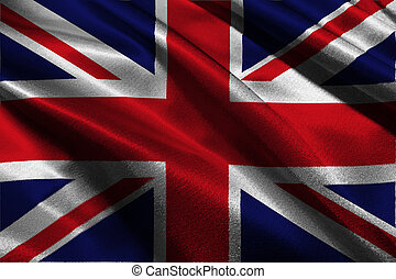 United Kingdom flag 3D illustration symbol.