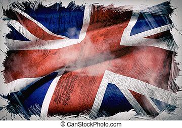 United kingdom flag - 3d rendering of an united kingdom flag