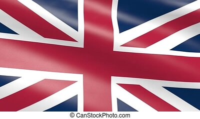 United Kingdom flag, animation