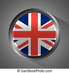 united kingdom flag badge round button
