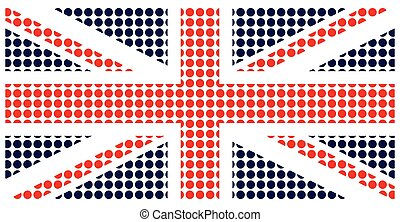 United Kingdom Flag - United Kingdom flag constructed from...