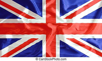 united kingdom flag closeup of ruffled