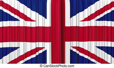 United Kingdom flag curtain Opening