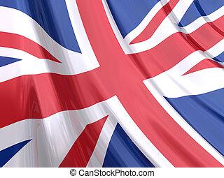 United Kingdom Flag - Glossy Flag of United Kingdom.