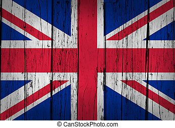 United Kingdom Flag Grunge Background