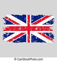 United kingdom flag grunge texture stamp