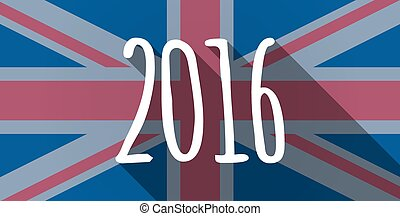 United Kingdom flag icon with a 2016 sign