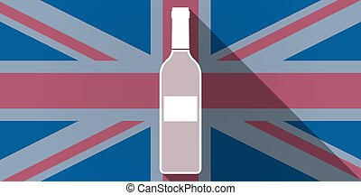 United Kingdom flag icon with a bottle