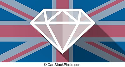 United Kingdom flag icon with a diamond