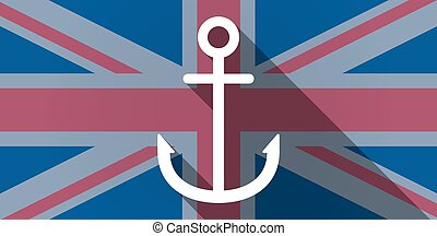 United Kingdom flag icon with an anchor