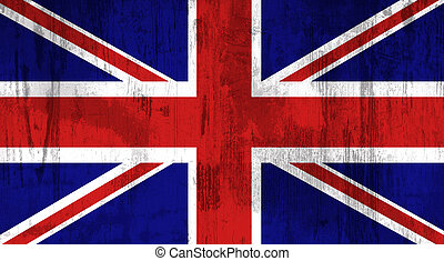 united kingdom flag - Illustration of an old and dirty...