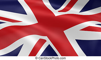 United Kingdom flag in the wind. Part of a series.