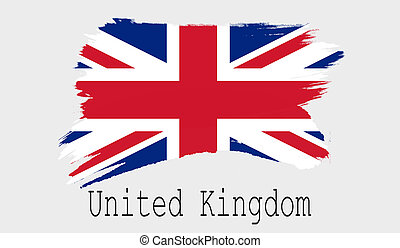 United Kingdom flag on white background