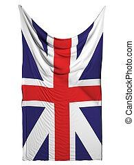 United Kingdom flag on white background