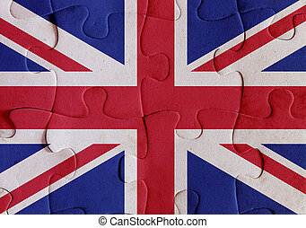 United Kingdom flag puzzle