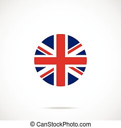 United Kingdom flag round icon
