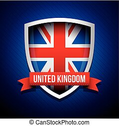 United Kingdom flag shield vector