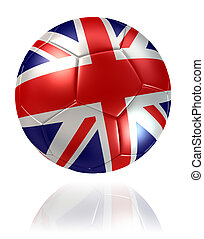 United Kingdom flag soccer ball