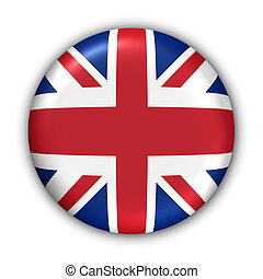 United Kingdom Flag - World Flag Button Series - Europe -...