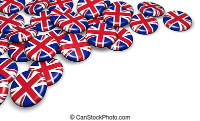 United Kingdom Flag UK Badges