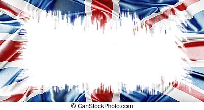 United Kingdom Flag - United Kingdom Union Jack Flag. Blank...