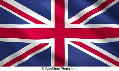 United Kingdom flag waving in the wind
