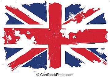 United Kingdom, grunge flag