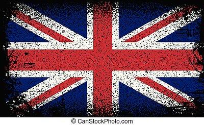 united kingdom Grunge flag. vector Background Illustration