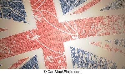 United Kingdom grungy animated flag