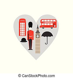 United Kingdom, London travel icon landmark. England Great...