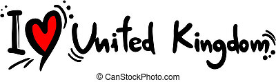 Creative design of united kingdom love