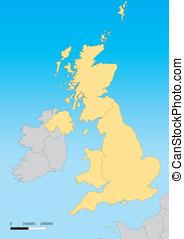 United Kingdom map - Map of United Kingdom with islands....