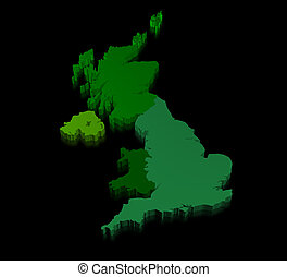 United kingdom map - Illustration Of United Kingdom Of Great...