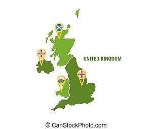 Map Of United Kingdom Countries England Wales Scotland - United kingdom map vector