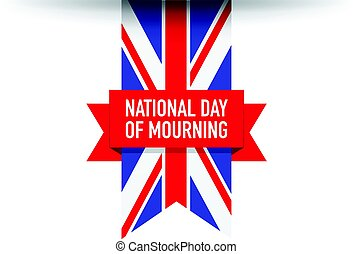 United kingdom national day of mourning flag