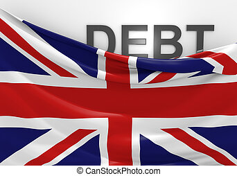 United Kingdom national debt and budget deficit financial crisis.