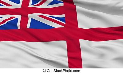United Kingdom Naval Ensign Flag Closeup Seamless Loop -...