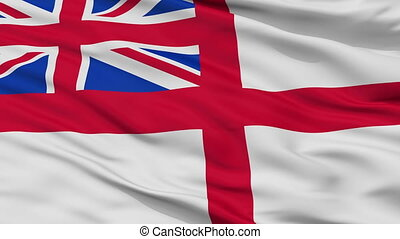 United Kingdom Naval Ensign Flag Closeup Seamless Loop