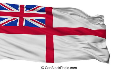United Kingdom Naval Ensign Flag Isolated Seamless Loop -...