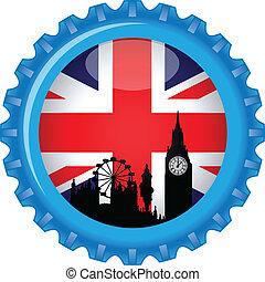 United kingdom stylized flag