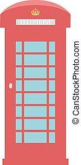 United Kingdom Telephone Box London public call vector...