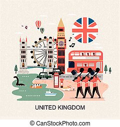 United Kingdom travel concept - eye-catching United Kingdom...