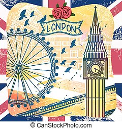 United Kingdom travel impression design