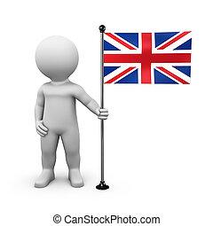 United Kingdom Union Jack Flag - Bobby presents a flag of...