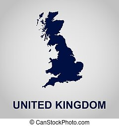 United Kingdom, map, vector illustration